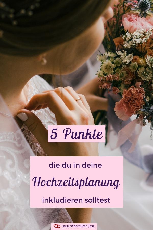 Hochzeitsplanung muss viele Dinge beinhalten - die Planung für die Ehe selbst ganz besonders. Hier sind 5 Punkte, die du sonst nirgends findest.